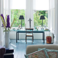 Clode up of desk space by Hooper Interiors